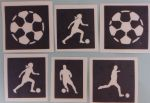 Football & footballer mixed  stencils  for glitter tattoos / airbrush  World Cup FIFA England